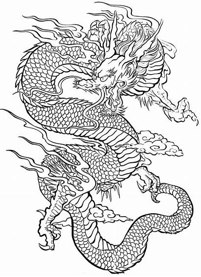 Coloring Dragon Pages Tattoos Tatoo Tattoo Adult