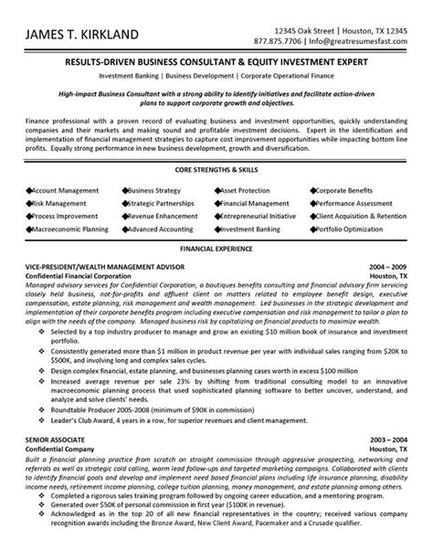 Management Resume Sles by Business Management Resume Template Business Management