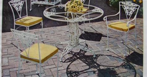 1968 meadowcraft wrought iron rose outdoor patio dining