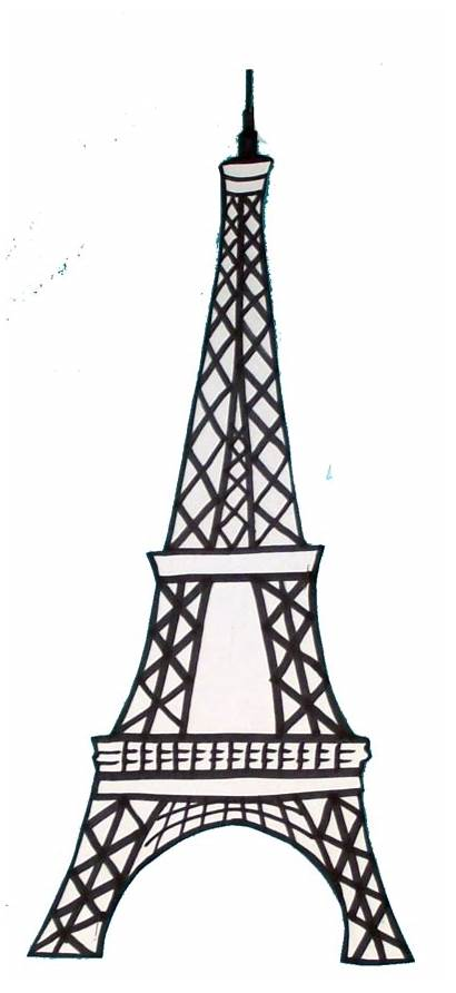 Eiffel Tower Drawing Simple Draw France Paris