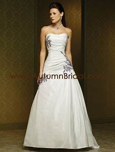 wedding dress with purple accents wedding dresses With wedding dress with purple accents