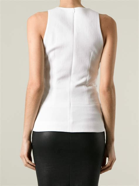 fitted blouses beckham sleeveless fitted blouse in white lyst