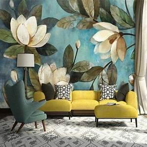Papier Peint Grosses Fleurs : papel de parede ideias de decora o para sua casa we ~ Dode.kayakingforconservation.com Idées de Décoration