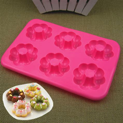 Silicone Donuts Mold silicone 6 cavity doughnut mold donut mold cake decorating