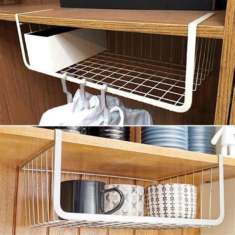 cupboard hanging  shelf storage iron mesh basket