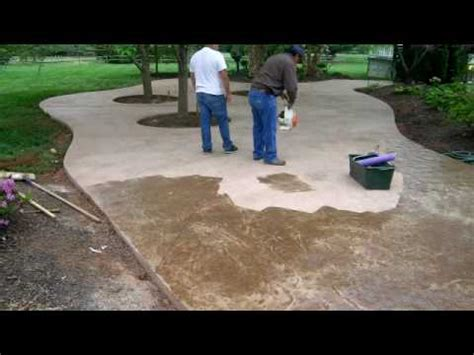 sted concrete patio time lapse by concreteva