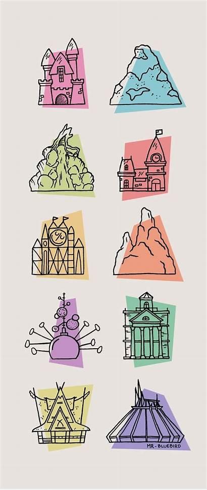 Disney Disneyland Icons Icon Mountain Parks Toontown