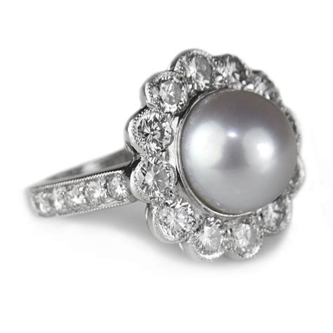 pearl engagement rings bad luck pearls on your wedding rings wedding planning
