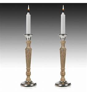 Wood, U0026, Polished, Aluminium, Candle, Holder