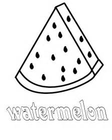 watermelon slice outline watermelon slice coloring page related - Slice Watermelon Coloring Page