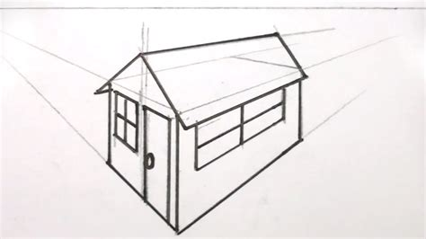 draw  house    point perspective youtube