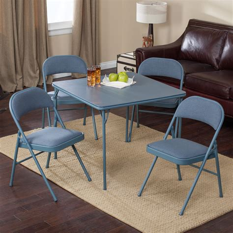 card table chairs set meco sudden comfort deluxe double padded chair and back 5