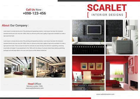 Bi Fold Brochure Design Templates by Interior Designing Bi Fold Brochure Design Template In Psd