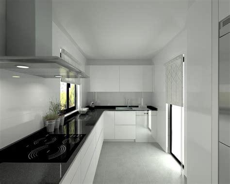 modelo   blanco seda encimera granito negro
