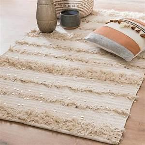 Tapis En Coton : tapis berb re en coton cru 90x150 maisons du monde ~ Nature-et-papiers.com Idées de Décoration