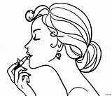 Coloring Pages Makeup Barbie Sheets Face Printable Drawing Adult Print sketch template