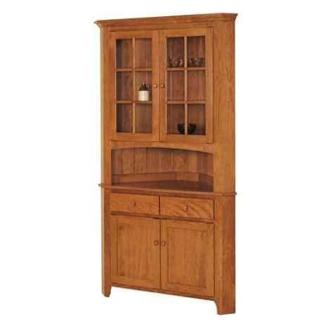 shaker corner hutch solid hardwood furniture locally