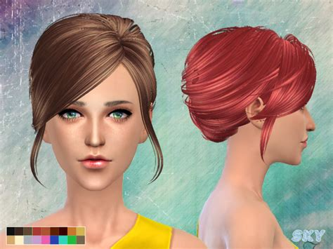 Hair 148 By Skysims At Tsr » Sims 4 Updates