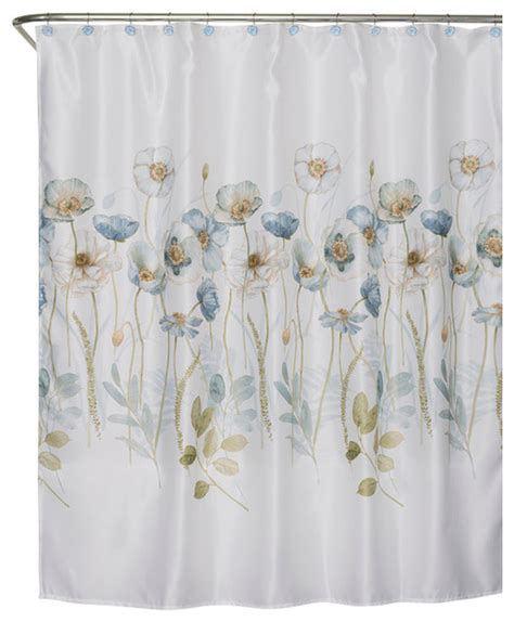 saturday garden melody fabric shower curtain