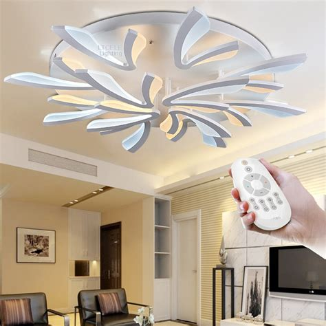 luminaire suspendu chambre a coucher acrylic modern led ceiling lights for living room