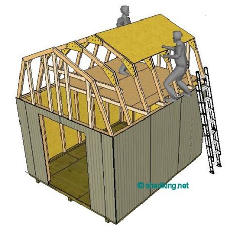 12x12 Shed Plans With Loft by Shedlast 12x12 Wood Storage Shed