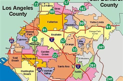 orange county california map bing images orange county