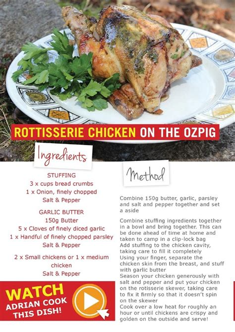 offroad adventure show recipes rottiserie chicken   ozpig se ozpig great