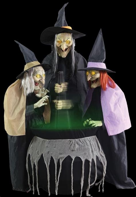 stitch witch sisters animated halloween prop view