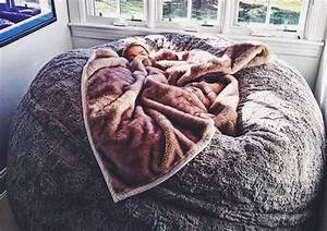 this lovesac pillow chair is as big as a bed and you39ll With biggest bean bag bed