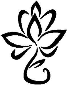 Lotus flower- outline in blue instead of black (With