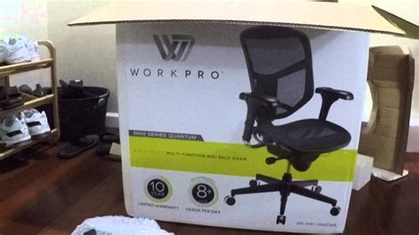 unboxing of workpro 9000 series quantum black mesh office