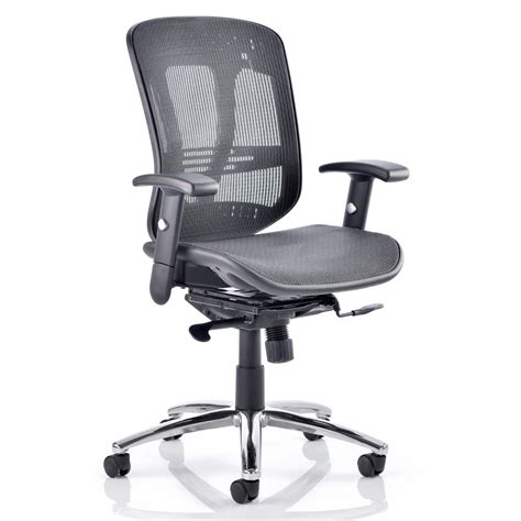 dynamic mirage executive chair black mesh with arms