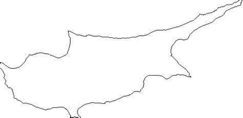 blank outline map  cyprus