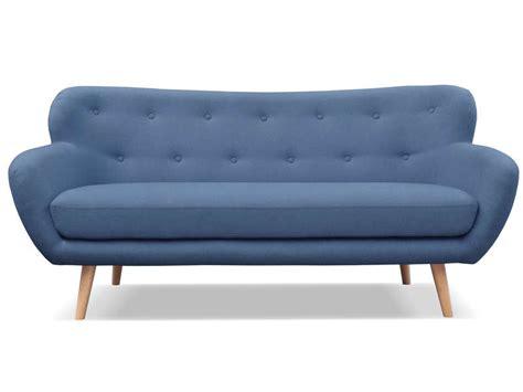 canap bleu conforama canapé fixe 3 places en tissu oslo coloris bleu vente de