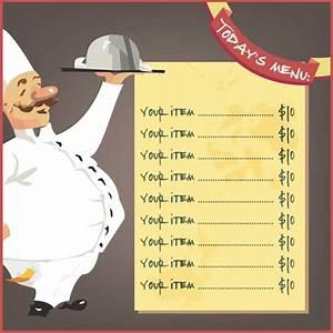 restaurant menu template 8 free restaurant menus With food menu templates for microsoft word