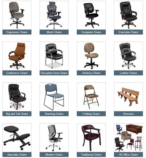 chair types in at last a comprehensive guide to office chairs