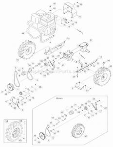 Troy-bilt 21b-643b011 Parts List And Diagram