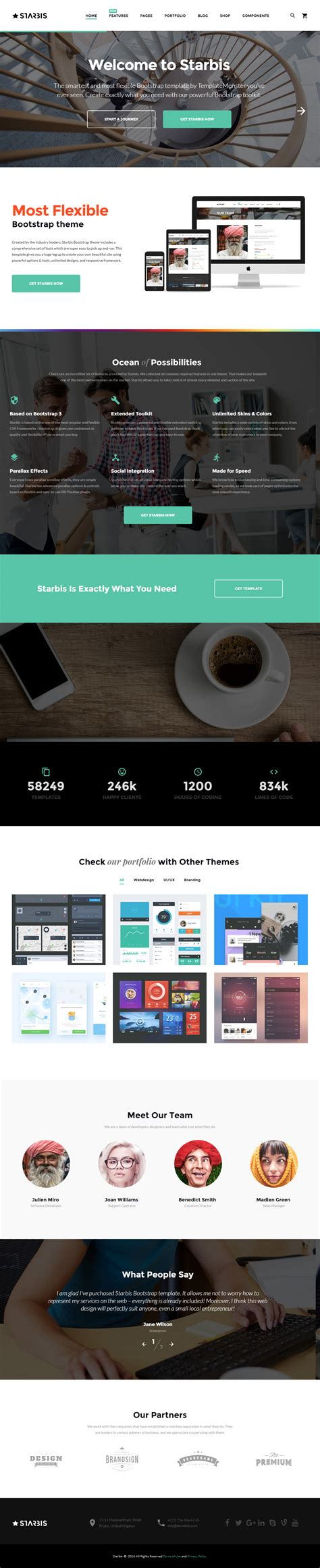 Best Parallax Templates by 40 Best Responsive Parallax Scrolling Website Template