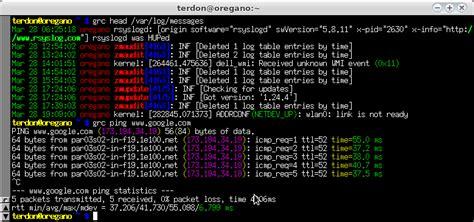 terminal coloring script output  cat unix linux