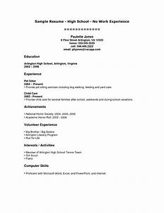 Resume Sample For College Students With No Experience High School Student Resume With No Work Experience Task