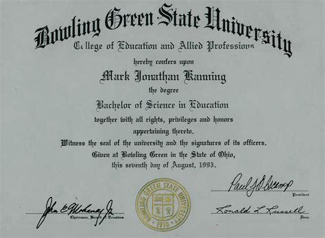 bachelors degree  bowling green state university