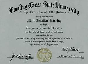 Bachelors Degree from Bowling Green State University ...