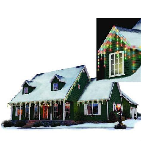 menards outside christmas lights philips 125 light icicle led christmas light set at menards