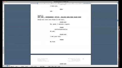 Microsoft Word Screenplay Template by Script Formatting Tips How To Format A Screenplay In