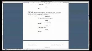 script formatting tips how to format a screenplay in With microsoft word screenplay template