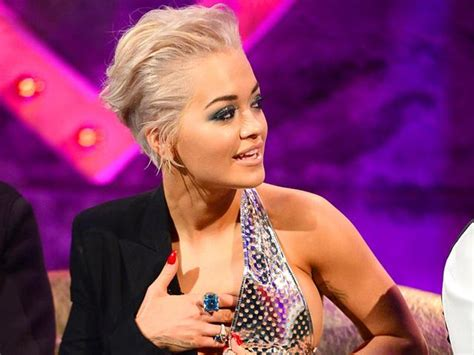 rita ora suffers wardrobe malfunction  tv show alan carr
