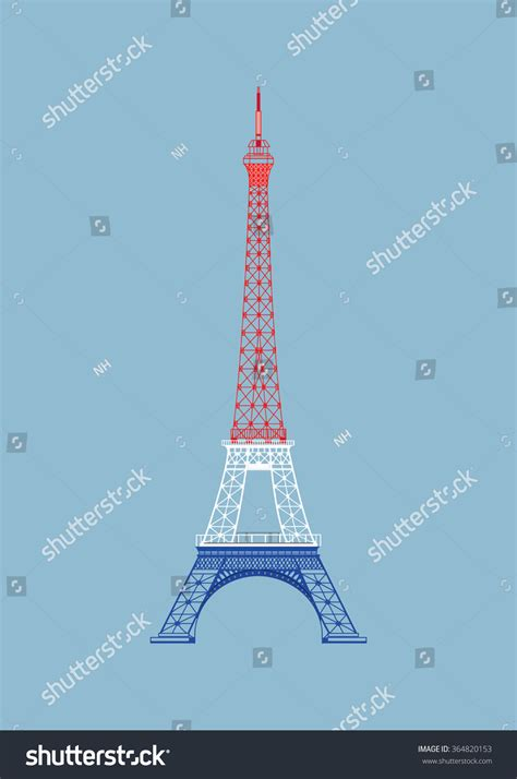 vector eiffel tower nice background light stock vector