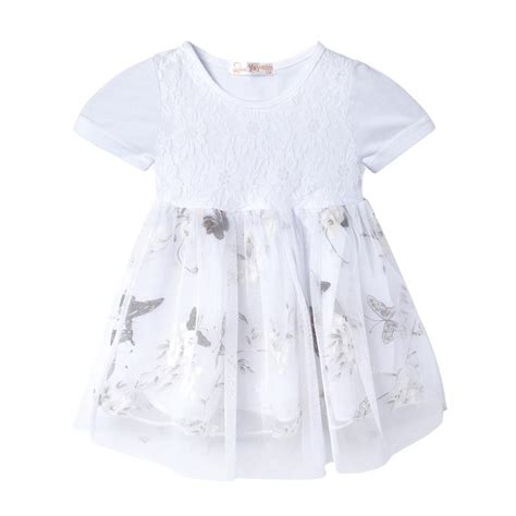 2017 new child princess dress style dresses butterfly pattern summer clothes