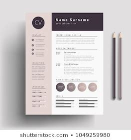 cv template images stock  vectors shutterstock