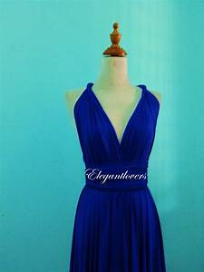 cobalt blue knee length wedding dress bridesmaid by With cobalt blue wedding dress